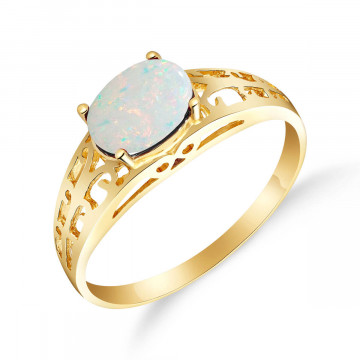 Opal Catalan Filigree Ring 0.45 ct in 9ct Gold