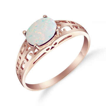 Opal Catalan Filigree Ring 0.45 ct in 9ct Rose Gold