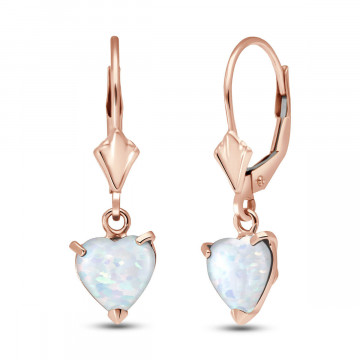 Opal Drop Earrings 1.3 ctw in 9ct Rose Gold