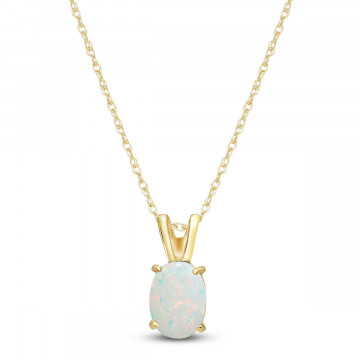 Opal Oval Pendant Necklace 0.45 ct in 9ct Gold