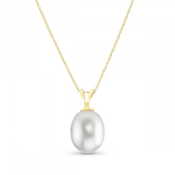 Oval Cut Pearl Pendant Necklace 4 ct in 9ct Gold