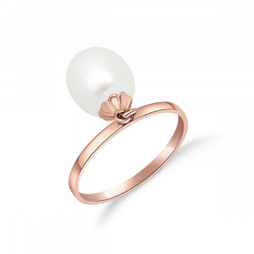 Oval Cut Pearl Ring 4 ct in 9ct Rose Gold