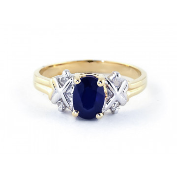 Oval Cut Sapphire Ring 1.47 ctw in 9ct Gold