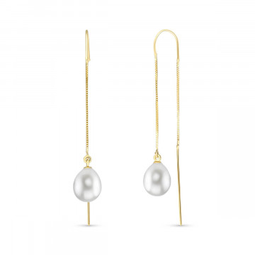Pearl Scintilla Briolette Earrings 8 ctw in 9ct Gold