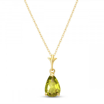 Peridot Belle Pendant Necklace 1.5 ct in 9ct Gold