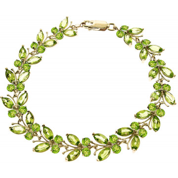 Peridot Butterfly Bracelet 16.5 ctw in 9ct Gold