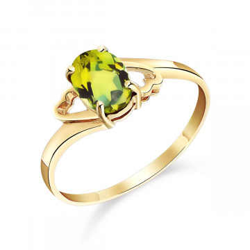 Peridot Classic Desire Ring 0.75 ct in 9ct Gold