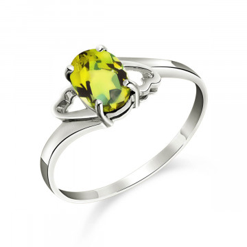Peridot Classic Desire Ring 0.75 ct in 9ct White Gold