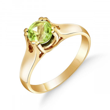 Peridot Solitaire Ring 1.1 ct in 9ct Gold