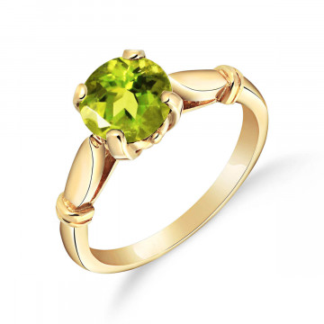 Peridot Solitaire Ring 1.15 ct in 9ct Gold