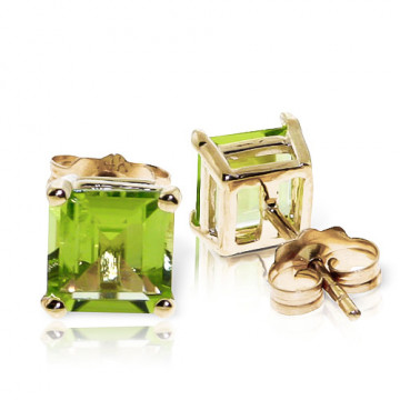 Peridot Stud Earrings 1.75 ctw in 9ct Gold