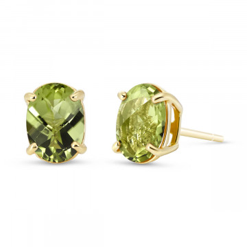 Peridot Stud Earrings 1.8 ctw in 9ct Gold