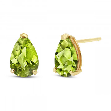 Peridot Stud Earrings 3 ctw in 9ct Gold