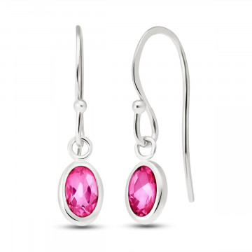 Pink Topaz Allure Drop Earrings 1 ctw in 9ct White Gold