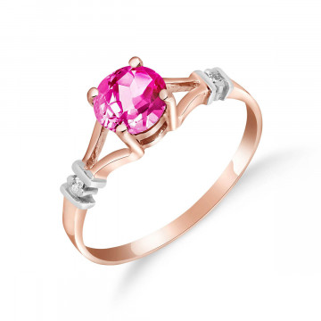 Pink Topaz & Diamond Aspire Ring in 9ct Rose Gold