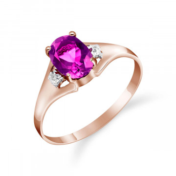 Pink Topaz & Diamond Desire Ring in 9ct Rose Gold
