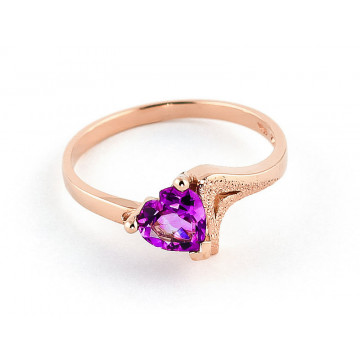 Pink Topaz Devotion Ring 0.95 ct in 9ct Rose Gold