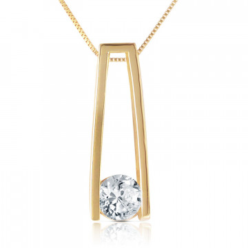 Round Cut Diamond Pendant Necklace 0.25 ct in 9ct Gold