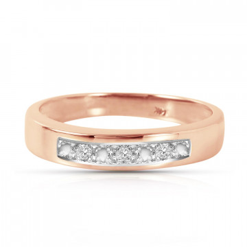 Round Cut Diamond Ring 0.02 ctw in 9ct Rose Gold