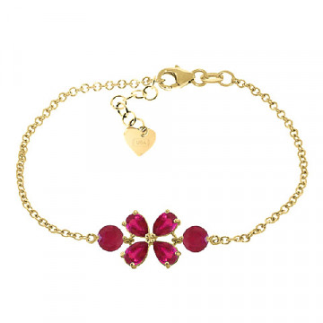 Ruby Adjustable Bracelet 3.15 ctw in 9ct Gold