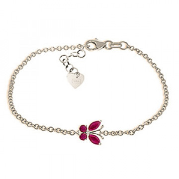 Ruby Adjustable Butterfly Bracelet 0.6 ctw in 9ct White Gold