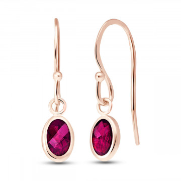 Ruby Allure Drop Earrings 1 ctw in 9ct Rose Gold