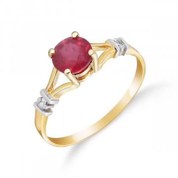 Ruby & Diamond Aspire Ring in 9ct Gold