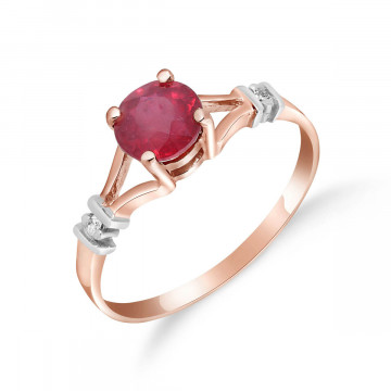 Ruby & Diamond Aspire Ring in 9ct Rose Gold