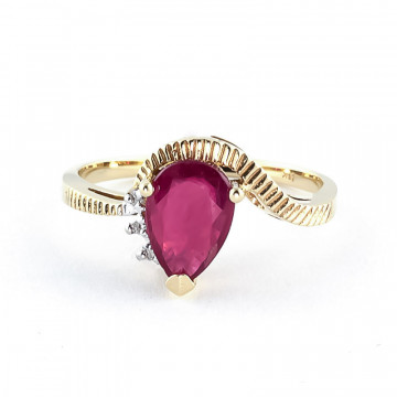Ruby & Diamond Belle Ring in 9ct Gold