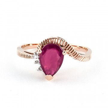 Ruby & Diamond Belle Ring in 9ct Rose Gold