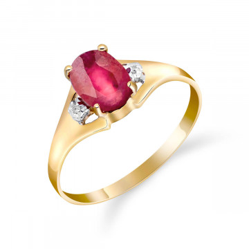 Ruby & Diamond Desire Ring in 9ct Gold
