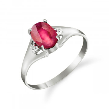 Ruby & Diamond Desire Ring in 9ct White Gold