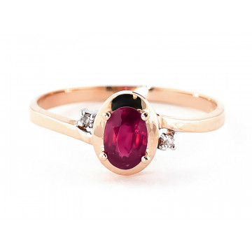 Ruby & Diamond Meridian Ring in 9ct Rose Gold