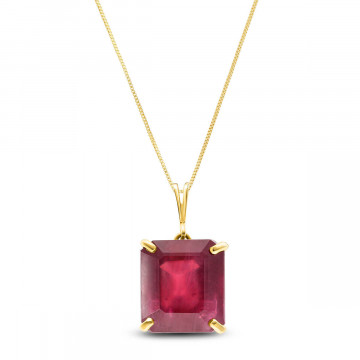 Ruby Auroral Pendant Necklace 6.5 ct in 9ct Gold