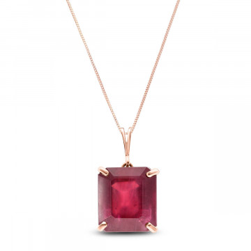 Ruby Auroral Pendant Necklace 6.5 ct in 9ct Rose Gold