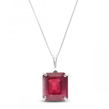 Ruby Auroral Pendant Necklace 6.5 ct in 9ct White Gold