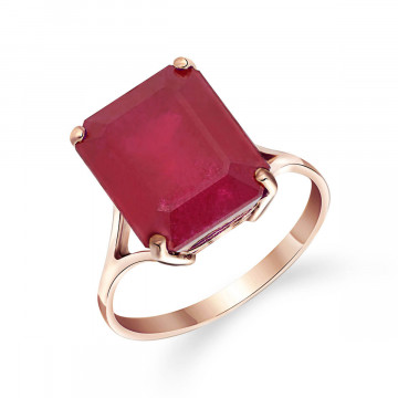 Ruby Auroral Ring 6.5 ct in 9ct Rose Gold