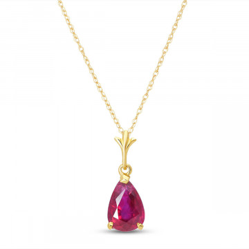 Ruby Belle Pendant Necklace 1.75 ct in 9ct Gold