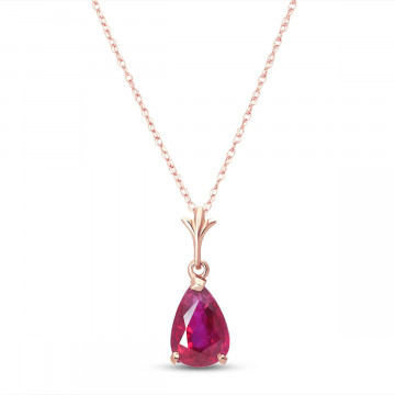 Ruby Belle Pendant Necklace 1.75 ct in 9ct Rose Gold