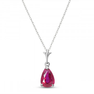 Ruby Belle Pendant Necklace 1.75 ct in 9ct White Gold