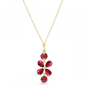 Ruby Blossom Pendant Necklace 3.15 ctw in 9ct Gold
