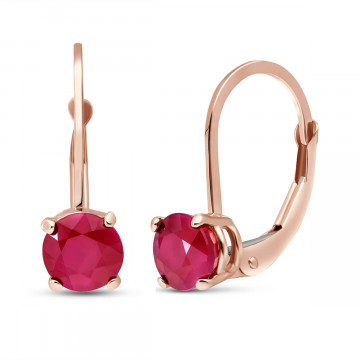 Ruby Boston Drop Earrings 1.2 ctw in 9ct Rose Gold