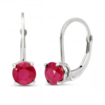 Ruby Boston Drop Earrings 1.2 ctw in 9ct White Gold