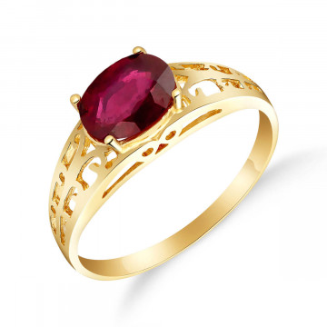 Ruby Catalan Filigree Ring 1.15 ct in 9ct Gold