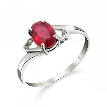 Ruby Classic Desire Ring 1.15 ct in 9ct White Gold