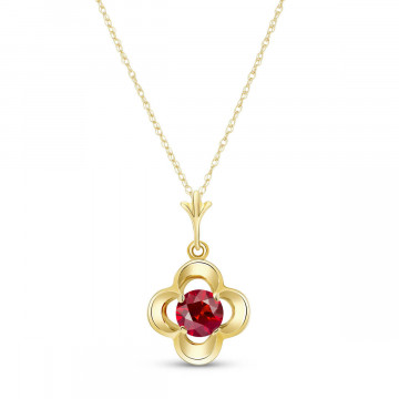 Ruby Corona Pendant Necklace 0.55 ct in 9ct Gold