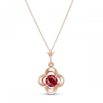 Ruby Corona Pendant Necklace 0.55 ct in 9ct Rose Gold