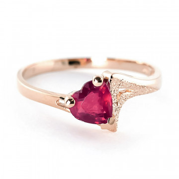 Ruby Devotion Ring 1 ct in 9ct Rose Gold