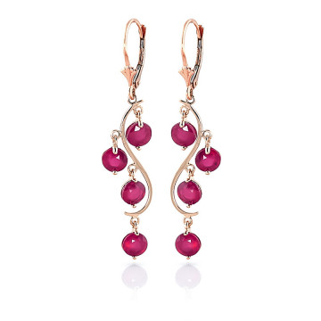 Ruby Dream Catcher Drop Earrings 4 ctw in 9ct Rose Gold