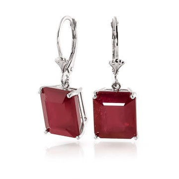Ruby Drop Earrings 13 ctw in 9ct White Gold